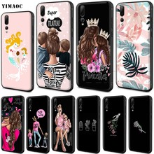 YIMAOC Mom and Baby Silicone Case for Huawei Mate 10 P8 P9 P10 P20 Lite Pro P Y7 Y9 Smart Mini 2017 2018(China)