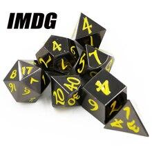 Подземелье и подземелье 7 шт. набор креативных пинцетов РГ D& D металлические щипцы черный никель желтый D4 D6 D8 D10 D12 D20