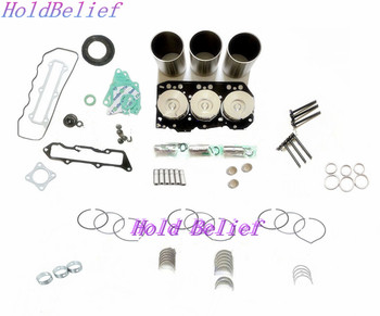 Overhaul Rebuild Kit For Komatsu PC20-6 PC25-6 PC30-6 PC30-1 PC30-5 Engine Piston Ring Gasket Liner Set Free Shipping