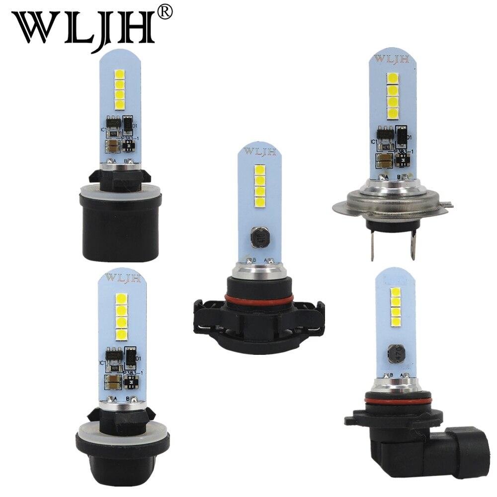 wljh 2x carro auto luz led h7 h8 h27 880 881 9006 ps x 24 w