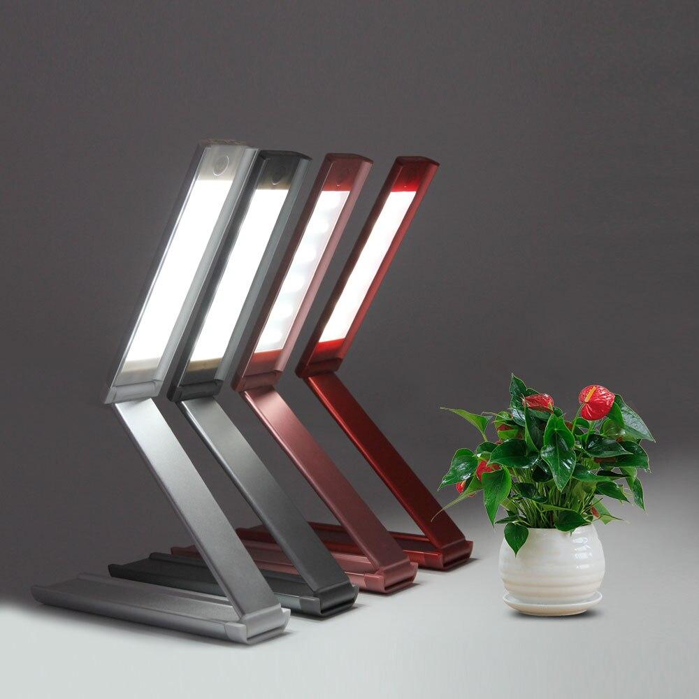 Новый складной Чтение Светодиодная настольная лампа настольная ноутбука Регулируемая Яркий SMD 18 LED лампы мягкий свет мини-книга для чтения ...