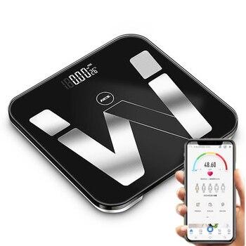 USB Elektronische Smart Waage Bad Körper Fett Skala Bascula Digitale Peso Corporal Digitale Mi Boden Waagen Bluetooth