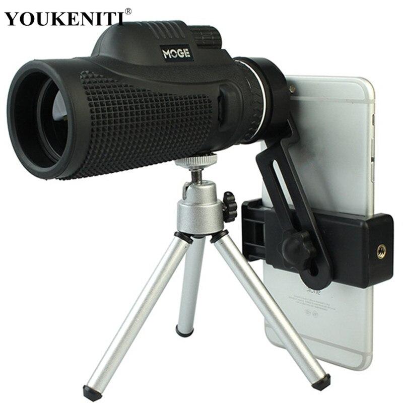 40X60 Haute Puissance télescope hd Monoculaires Puissance Jumelles télescope optique Monóculo Spyglass Monocle Chasse Voyage Camping