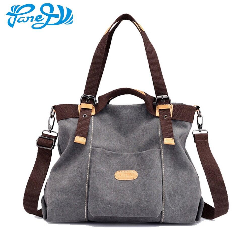 Canvas Handbag Large Hobos Bag Totes Messenger Bags Multifunctional Solid Shoulder Bag