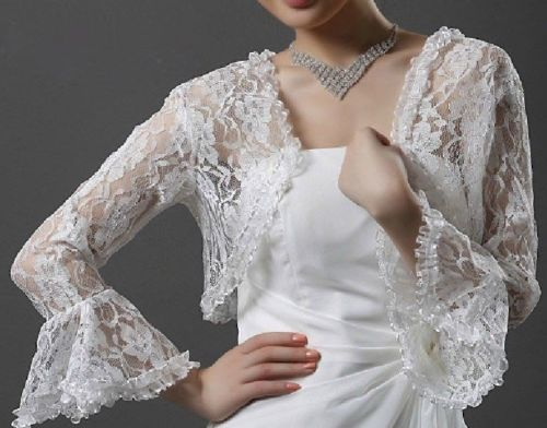 HOT NEW Bridal Lace Bolero Jacket Shawl Wraps Cape