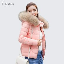 Brieuces 2018 Winter Jacket Women Faux Fur Hooded Parka Coats Female Long Sleeve Thick Warm Snow Wear Jacket Coat Mujer Quilted