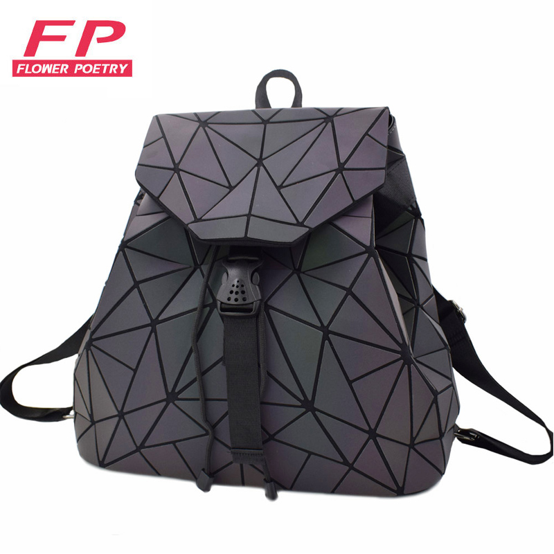 2018 Women Backpack Luminous Geometric Plaid Sequin Backpacks For Teenage Girls Bagpack Holographic Female Drawstring School Bag2018 Women Backpack Luminous Geometric Plaid Sequin Backpacks For Teenage Girls Bagpack Holographic Female Drawstring School Bag