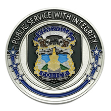 Unique Design Custom Eco Friendly Metal Soft Enamel Epoxy Police Challenge Coin