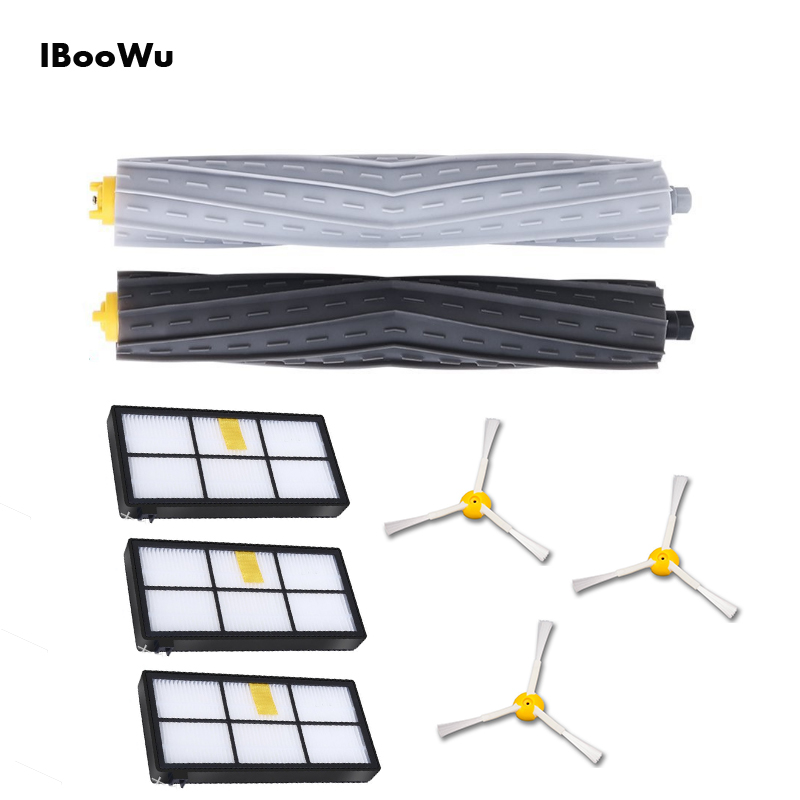 2 Main Brushes +3 Side Brush + 3 Hepa Filters Kit For IRobot Roomba Series 800 880 886 890 900 966 980... Vacuum Cleaner Parts2 Main Brushes +3 Side Brush + 3 Hepa Filters Kit For IRobot Roomba Series 800 880 886 890 900 966 980... Vacuum Cleaner Parts