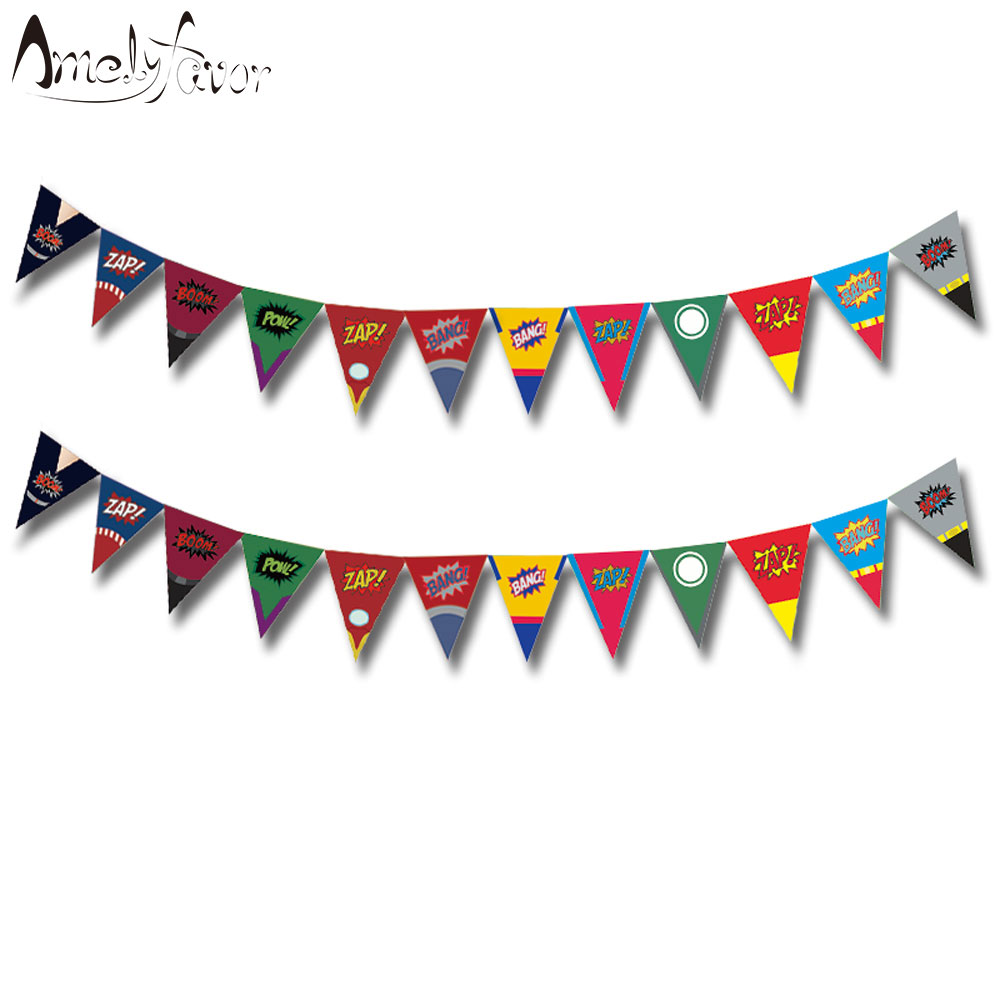 Superhero Banners Baby Shower Birthday Party Decorations Kids Event & Party Supplies Birthday Party Decorations Kids