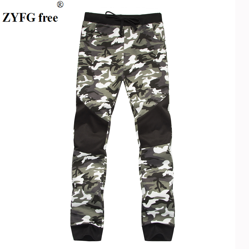 Mens Casual style Lounge pants New 2018 Cotton Performance men camo pattern Fashion practice Fitness Pants Sweatpants Trousers