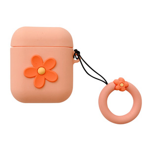 Image 5 - New Hot Korean style ins small flower Girls Earphone Silicone protective cover For Airpods headphones case box Cases Waterproof