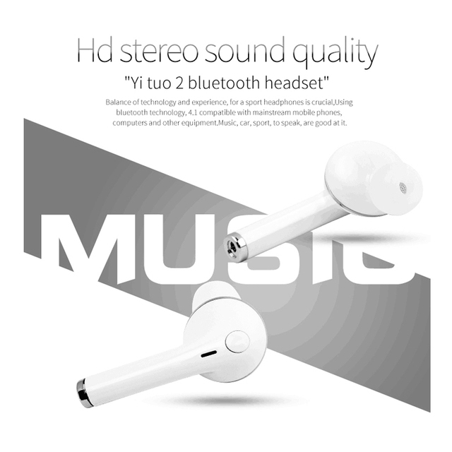 2017 Newest Bluetooth Wireless V1 Earphone with Microphone Steroe v1 Sport Headset Universal for xiaomi Iphone Samsung Phones