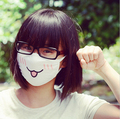 1 pcs Cute Kawaii Anime Kaomoji-kun Emotiction Mouth-muffle Winter Cotton Funny Mouth Anti-Dust Face Mask