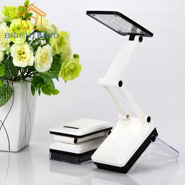 2 modos de proteção para os olhos regulável recarregável do diodo emissor de luz lâmpada de mesa de escritório lâmpada de mesa dobrável portátil novelty iluminação noturna