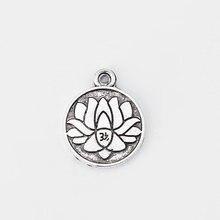 20 шт резная подвеска в виде лотоса для браслетов ожерелий ювелирных