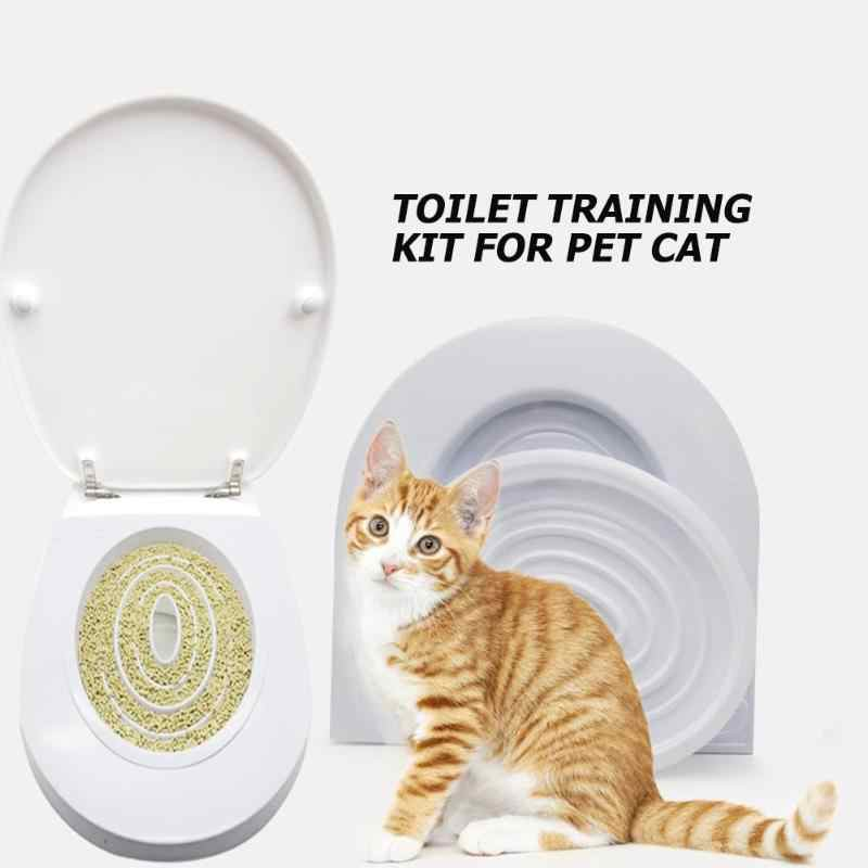 Cat Toilet Seat Training Kit Puppy Litter Potty Tray Pets Cleaning Supplies Toilet for Cat Supplies Grooming Tools