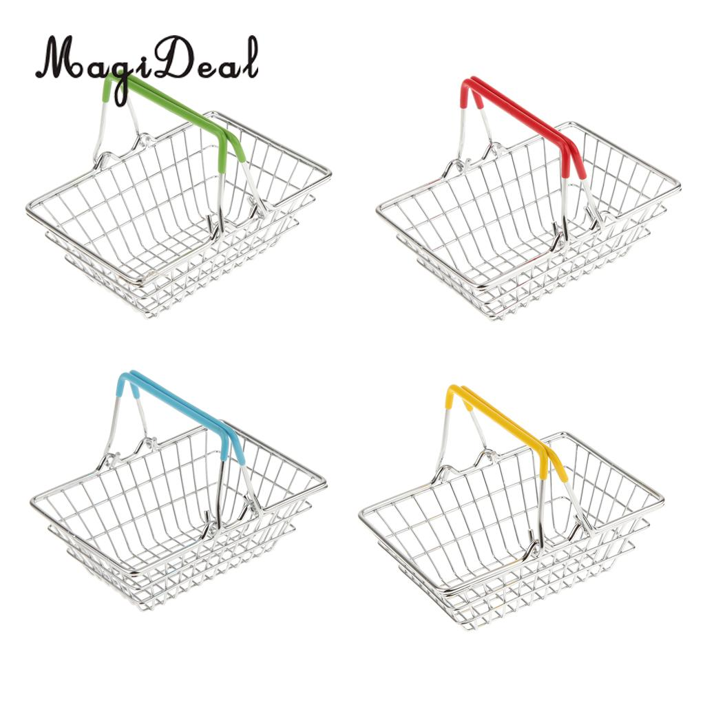 MagiDeal Mini Shopping Hand Basket Kids Toys Candy Gifts Basket Baby Shower Party Favors Gifts Holder Home Table Storage Basket