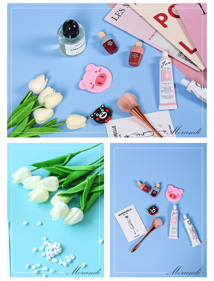 Morandi Color Series Double-sided Photography Backdrops Paper Board Photo Shooting Background Accessories for Foods Makeup Tools