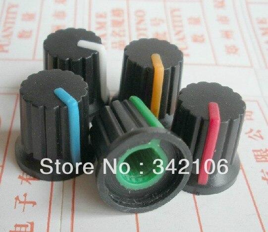 Free Shipping!  500pc  switch cap diameter 6mm diameter 15MM * 15MM high Potentiometer knob