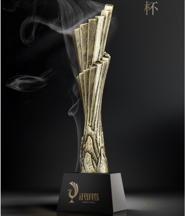 High quality!Resin trophy, gold plated high-grade metal trophy, five pointed star trophy,Free shipping цены
