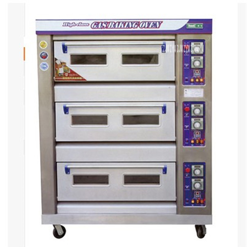 DFL 36 3layers 6 trays Stainless steel Commercial Electric bread toaster food oven pizza baker machine 60kg/h oven machine 380V