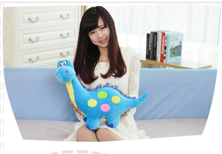 new lovely plush blue dinosaur toy cartoon spots dinosaurs doll gift about 50cm 0314