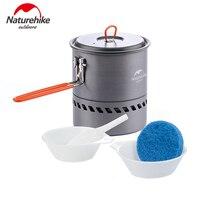Naturehike 1 5L Heat Exchanger Pot Portable Outdoor Cookware Camping Pot NH15T216 G
