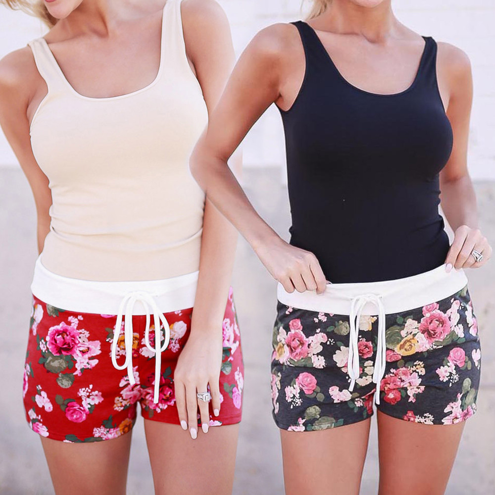 Womail Brand Drop Shipping Hot Sale Swimsuit Women Floral Printing Shorts Summer Short Pants