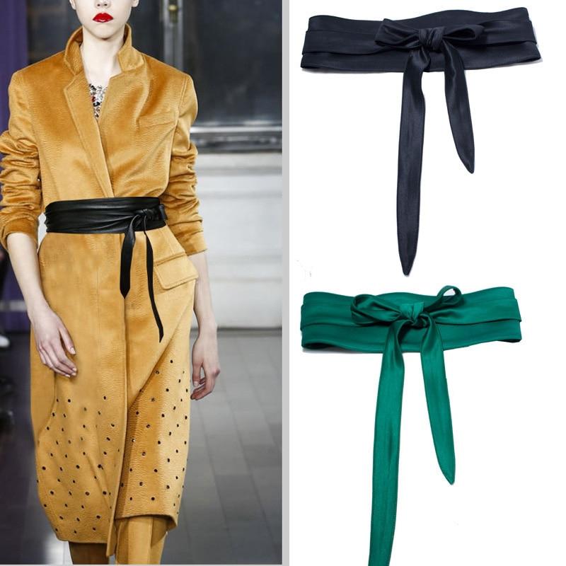 Decorative Cloth Belt Female Girdle Wide Wild Double Circle Bow Cummerbunds With Dress Child Coat Sweater Shirt Cotton Clothing