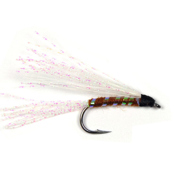 10PCS 7# Pearl Rainbow Crystal Flashabou Streamer Fly Trout Fishing Fly