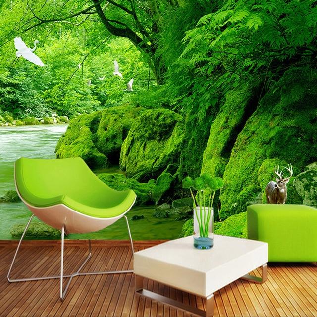 Hervorragend Nach 3D Foto Tapete Grün Wald Natürliche Landschaft Wand Malerei HD  Wohnzimmer Sofa Hintergrund Tapete Home