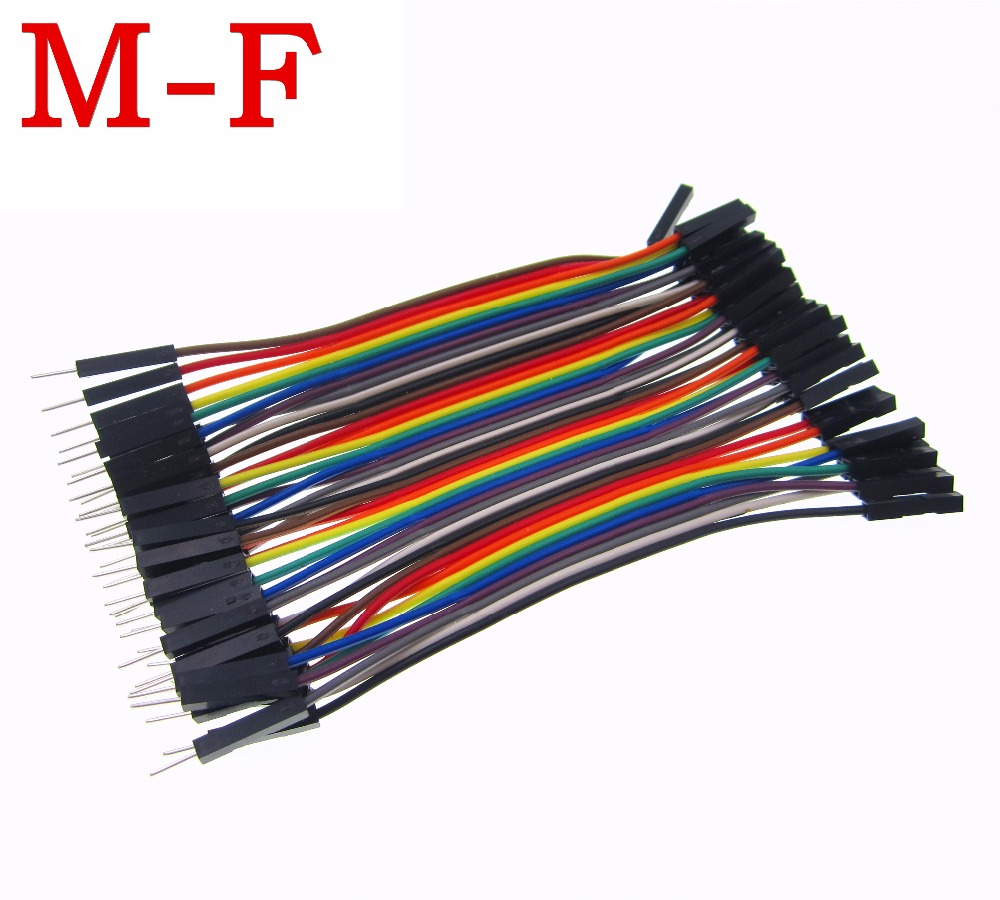 HAILANGNIAO 40pcs/lot 10cm 2.54mm 1pin 1p-1p male to female jumper wire Dupont cable 40pcs in row dupont cable 20cm 2 54mm 1pin 1p 1p female to male jumper wire for
