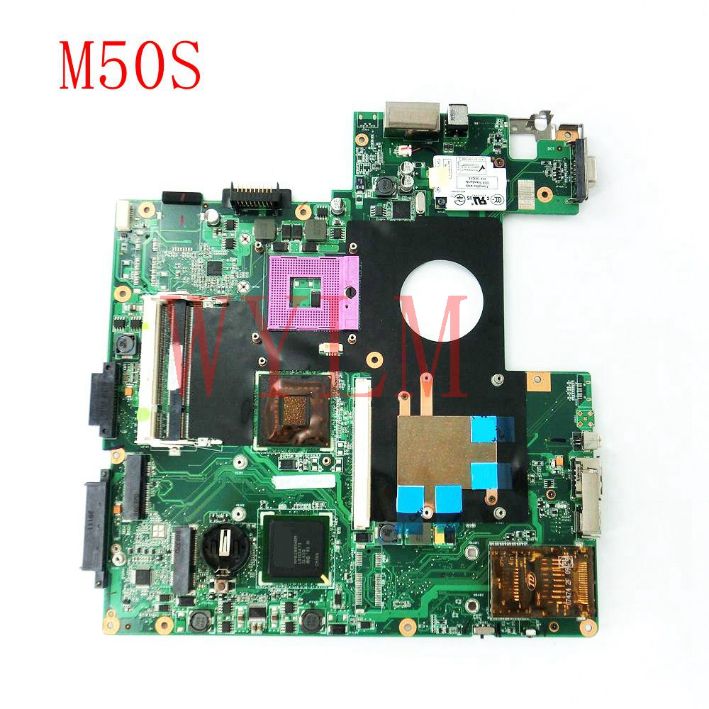 free shipping M50S mainboard For ASUS M50S M50SV Laptop motherboard PM965 DDR2 Tested Working Well free shipping k42dr mainboard rev2 3 for asus a42d k42d k42dy k42dr laptop motherboard tested working