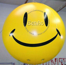 AO245 Inflatable PVC Smiley Face Helium Balloons on Advertising Promotion,sky balloon helium balloon for advertising events