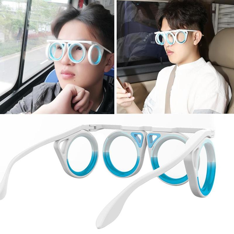 Portable Anti-motion Sickness Glasses Smart Seasick Airsick Liquid Lens-free Removable Folding Lensless Protection Eyewear
