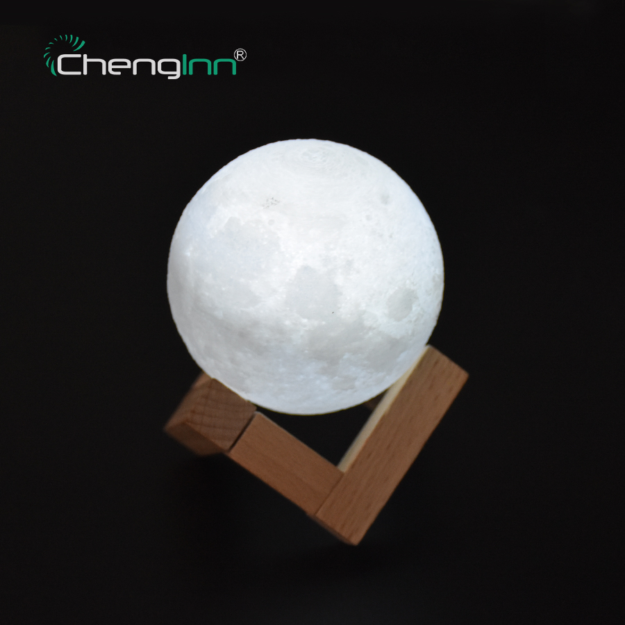 Rechargeable 3D Print Moon Lamp Night Light 2 Color Change Touch Control USB Charging Night Light for Kids Bedroom Creative Gift easter gift remote control led color change night light