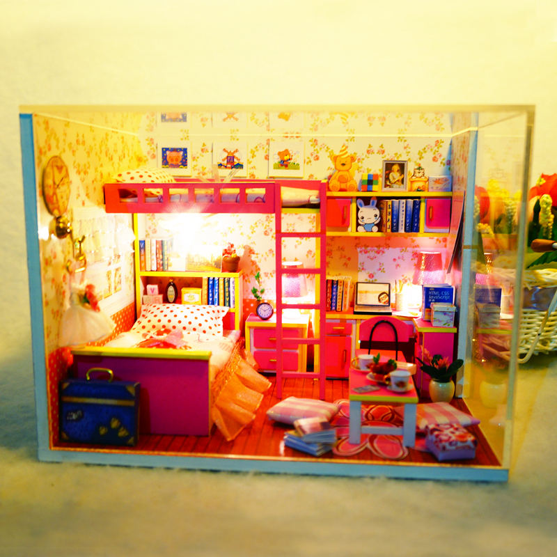 Contemplative Diy 3d Wooden Building Dollhouse Miniature Assemble Puzzl Kits With Funitures Toys For Mm/gg Festival Handmade Creative Gifts Toys & Hobbies