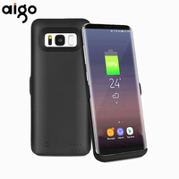 Travle Aigo 5500 mah Caso de Reserva Externo Powerbank de carga Rápida Cargador de Batería Del Teléfono Móvil Caso Apto para Samsung Galaxy S8