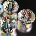 1000 unids 3x4mm Clear + AB Crystal Gemas Facetadas Granos Flojos 5040