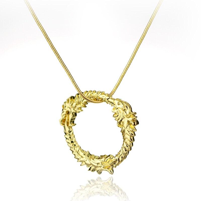 Fashion Jewrly Dragon Skyrim Elder Scrolls Gold Halskette Tritium - Modeschmuck - Foto 2