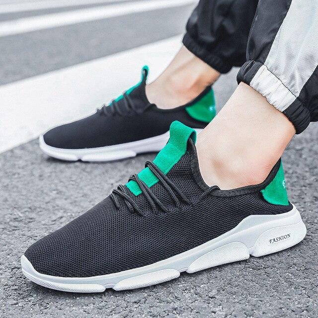 7e2961b88 DIWEINI 2019 Fashion Men Shoes Casual Weaving Fly Mesh Breathable Light  Soft Slipon Mens Shoe Male