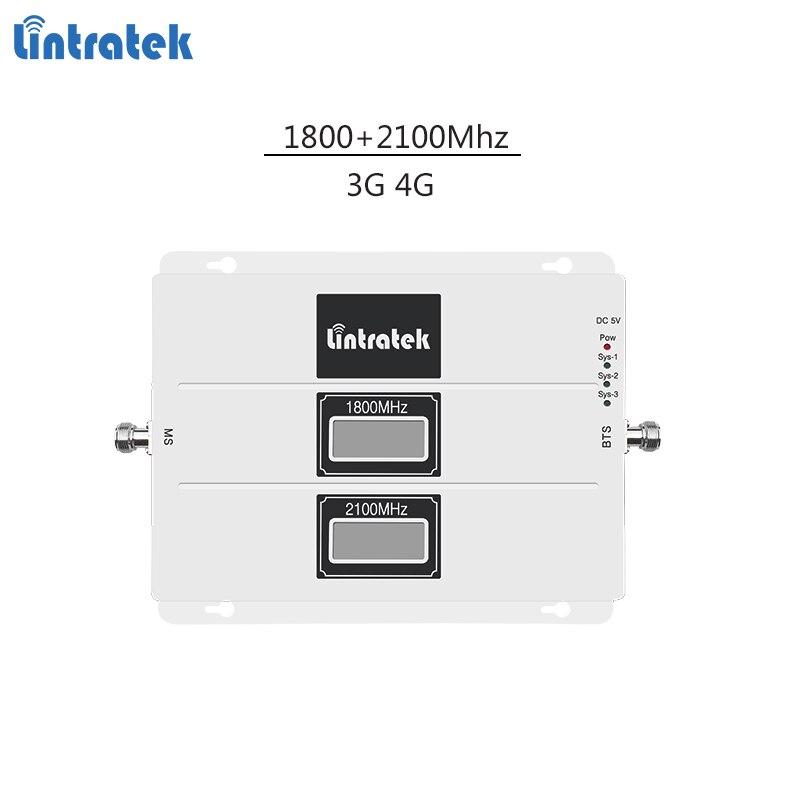 Répéteur de signal Lintratek 1800 2100 3G 4G booster LTE 1800 Mhz répéteur 3G 2100 Mhz amplificateur de signal amplificateur mobile double bande #5.3