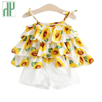 Baby Girl Clothes 1st Birthday Birthday Girl Outfits Flower Fashion Newborn Baby Girl Clothes Summer Cotton