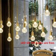 купить Retro Industrial Loft Pendant Lights Fixtures String Spider Pendant Lamps Pendente De Teto Wire Base Modern Indoor 3W Droplights дешево