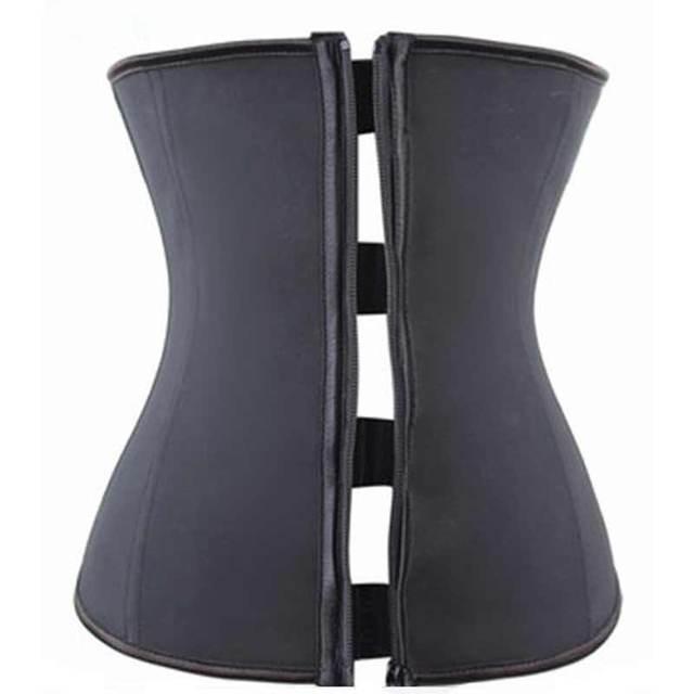 1Pc Black Zipper Waist Trainer Sexy Waist Corsets Waist Cincher Corset Tops Body Slimming Shaper Slimming Underwear