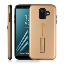 Shock Proof Absorption Anti Skid TPU+PC Ring Bracket Phone Case For Samsung Galaxy A6 2018