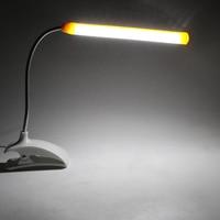Flexible LED Desk Lamp Gooseneck Reading Light Portable Clip-on Eye Protection Book Light For Children Bedroom USB Table Lamp