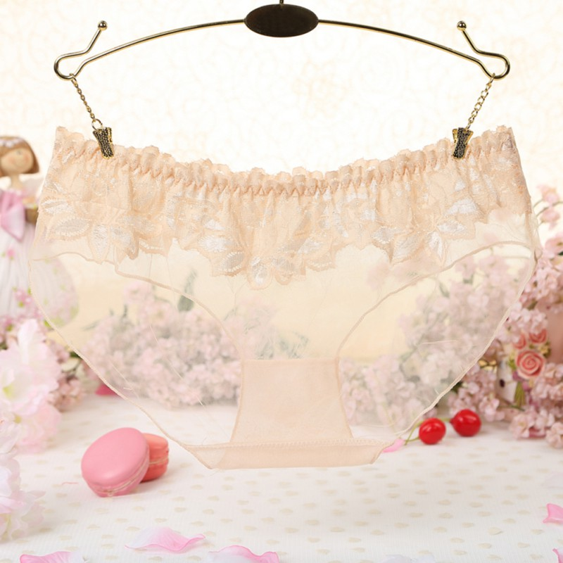 Women Girls Sexy Lace Low Waist Thongs Underwear Briefs Knickers Lingerie Lady Pant 2018
