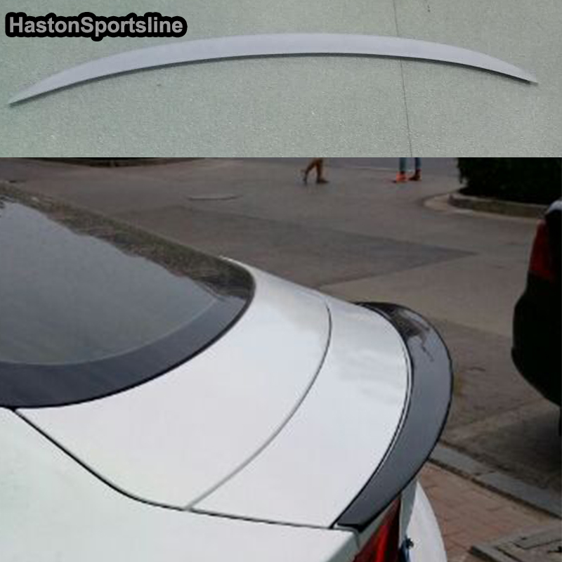 A7 Modified P Style Fiberglass Rear Trunk Lip Spoiler Car Wing for Audi A7 2011 2012 2013 2014 paint abs car rear wing trunk lip spoiler for 16 17 honda civic 2016 2017 fastby ems rs style 8colors